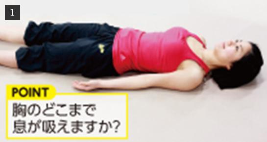1.POINT 胸のどこで息が吸えますか?